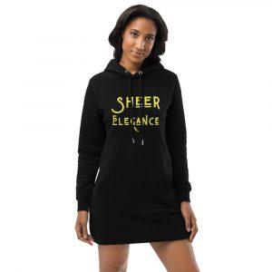 Sheer Elegance Hoodie Dresses