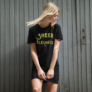 Sheer Elegance Organic t-shirt Dresses